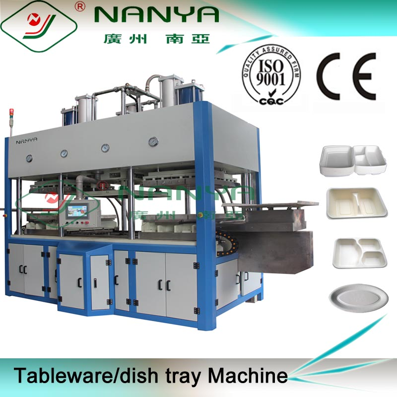 Fully automatic machine for pulp molding tableware